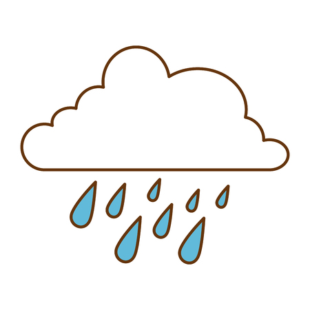 Cloud with rain drops vector illustration design