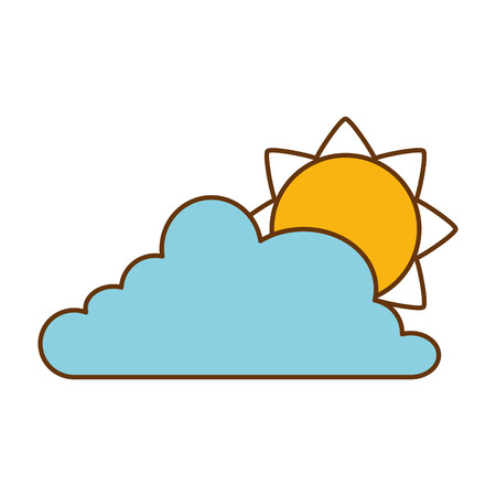 Cloud weather with sun vector illustration design 스톡 콘텐츠 - 96523572