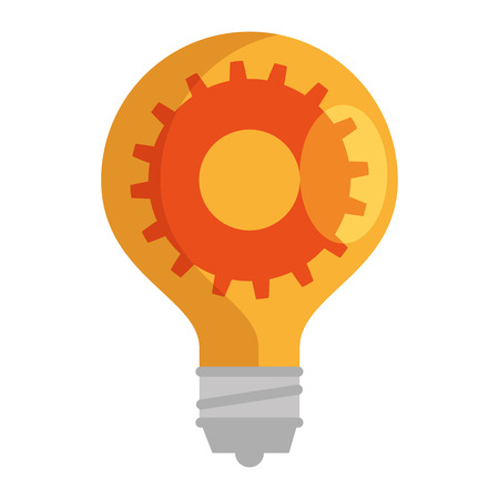 Lightbulb with gear  illustration design