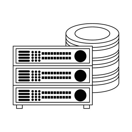 Data center disk with server vector illustration design Reklamní fotografie - 96523844