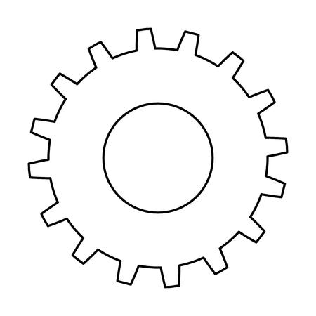 Gears machinery icon vector illustration design
