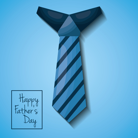 Fathers day celebration greeting card design with striped necktie decoration vector illustration