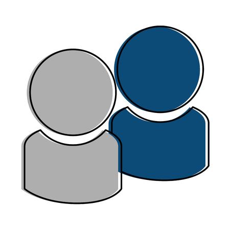 Users silhouette contacts icon vector illustration design Фото со стока - 96405528