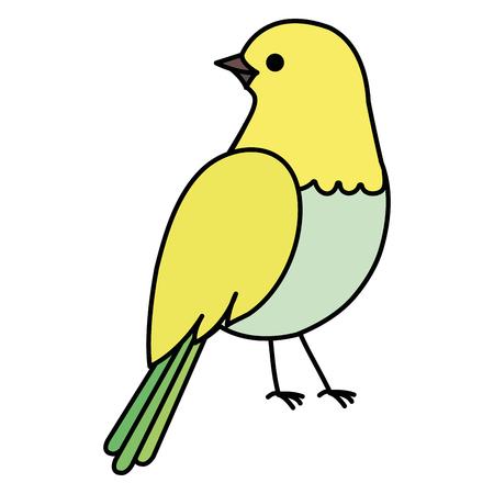 beautiful bird decorative icon vector illustration design Иллюстрация