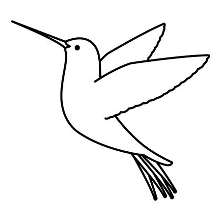 cute hummingbird flying icon vector illustration design