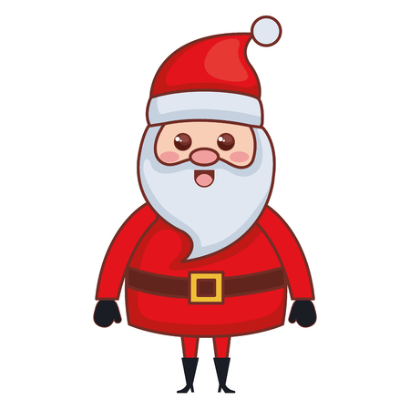 Isolated cute santa claus for christmas character vector illustration design Иллюстрация
