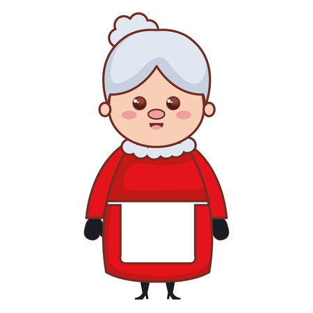 cute santa wife character vector illustration design Illustration