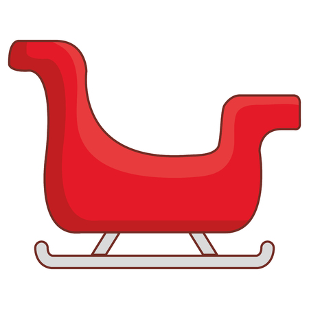 santa claus sleigh icon vector illustration design