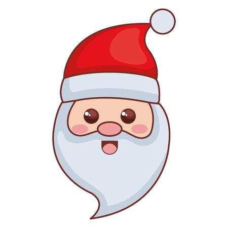Cute santa claus head christmas character vector illustration design Illustration
