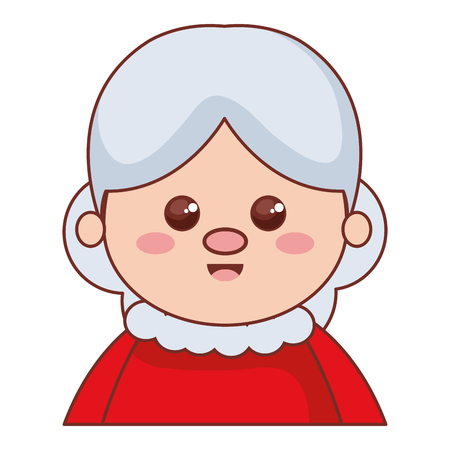 Cute santa wife character vector illustration design