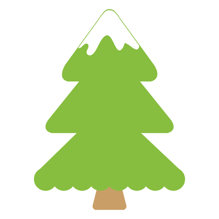 christmas pine tree icon vector illustration design