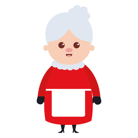cute santa wife character vector illustration design 写真素材 - 96444966