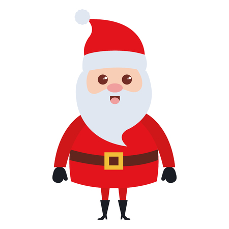 cute santa claus christmas character vector illustration design Çizim