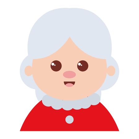 cute santa wife character vector illustration design Ilustração