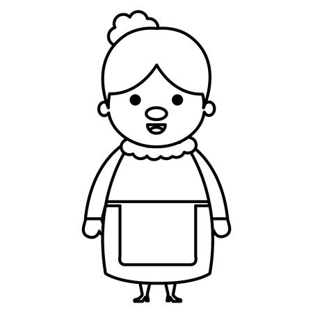 Cute grandmother avatar character