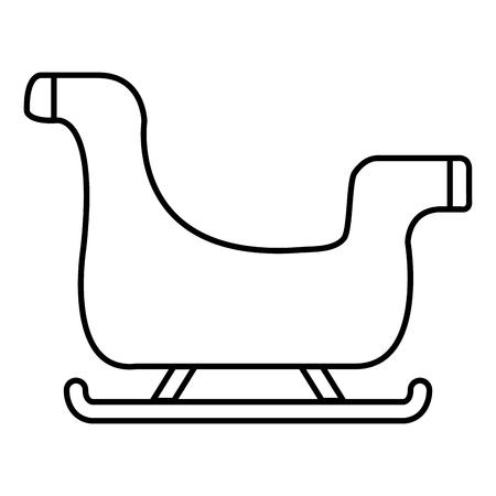 santa claus sleigh icon vector illustration design