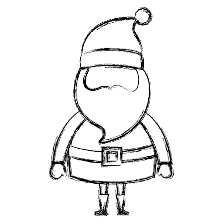 cute santa claus christmas character vector illustration design  イラスト・ベクター素材