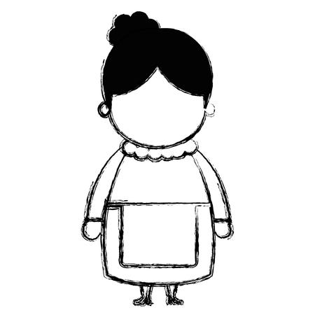cute santa wife character vector illustration design Vettoriali