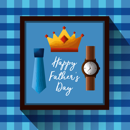 happy fathers day greeting card template Çizim