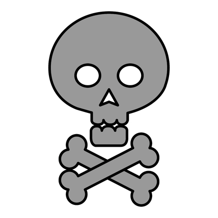 Skull with bones crossed icon