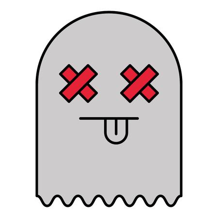 ghost alert character icon vector illustration design Archivio Fotografico - 96303781