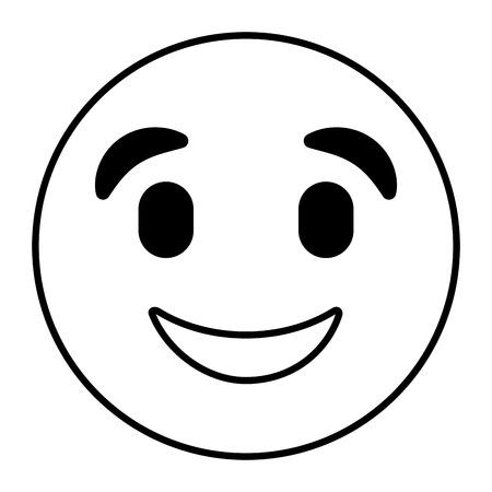 happy emoticon vector illustration outline image