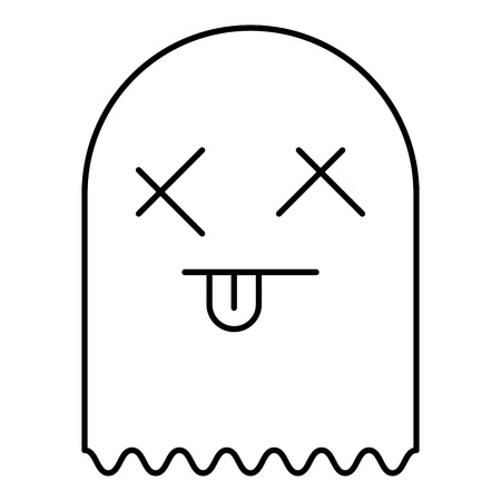 ghost alert character icon vector illustration design Archivio Fotografico - 96278362