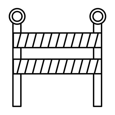 under construction fence icon vector illustration design Ilustração