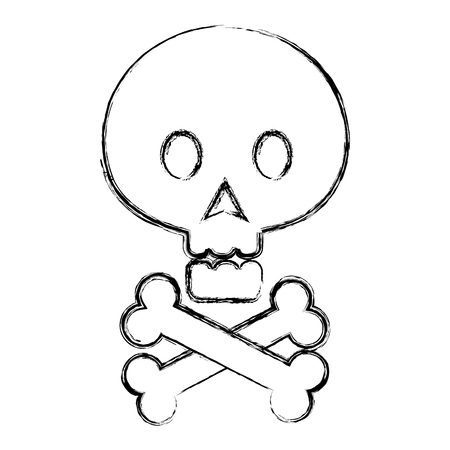 skull with bones crossed vector illustration design Illustration