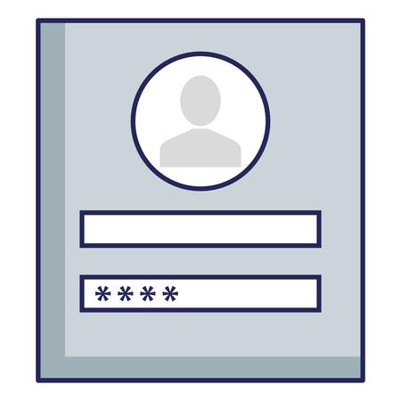 login interface access icon vector illustration design