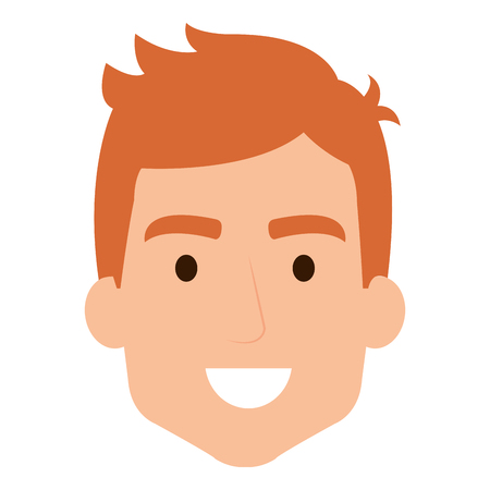 Man's head avatar illustration