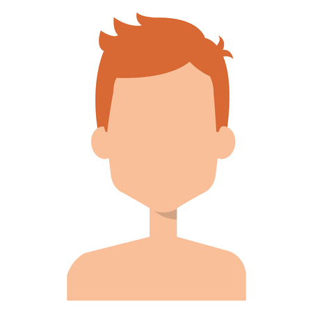 Faceless and shirtless man illustration Stock Vector - 96294954