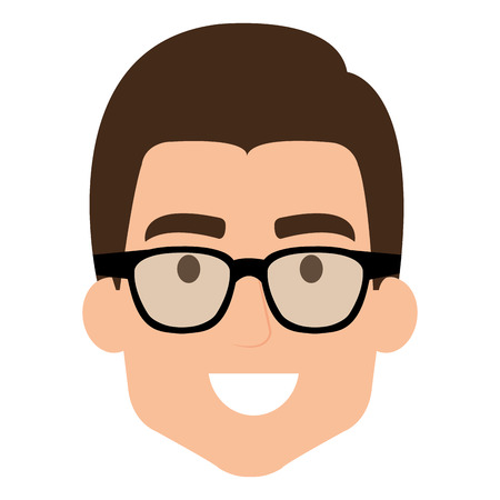 Mans head with glasses illustration