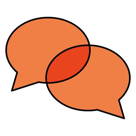 Orange speech bubble message icon illustration design Illusztráció