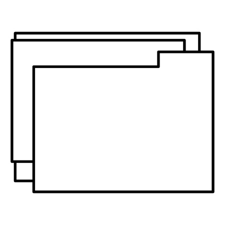 Outline of folder files, isolated icon vector illustration design Banque d'images - 96524517
