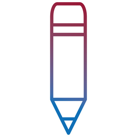 Colored outline of pencil school isolated icon vector illustration design