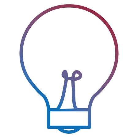 電球ライト隔離アイコンベクトルイラストデザインの色付き太字アウトライン  イラスト・ベクター素材