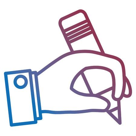 hand human writing icon vector illustration design Çizim
