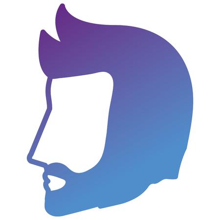 Head profile man avatar character vector illustration design.