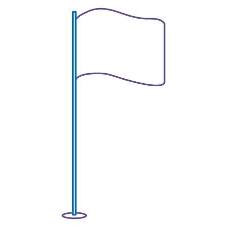 Pointer flag isolated icon vector illustration design.