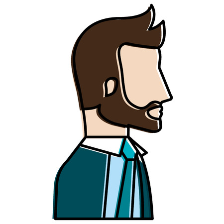 businessman profile avatar character vector illustration design Stock Photo