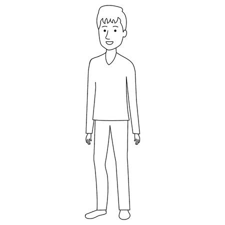 Man outline image design
