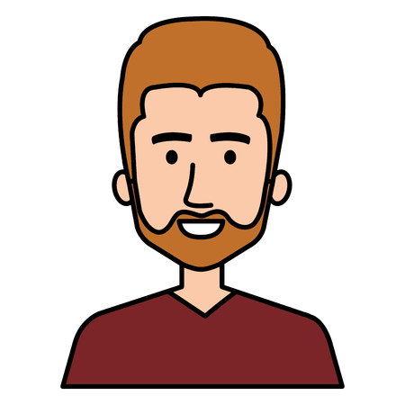 Young bearded man avatar character