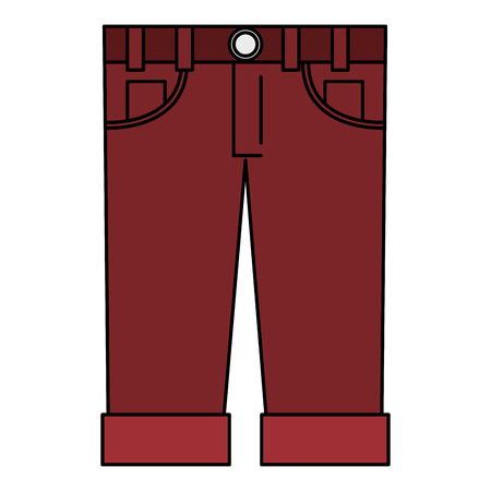 male jeans casual clothes icon vector illustration design