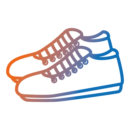 Sport shoes isolated icon vector illustration design.