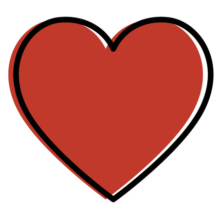 Heart cardio isolated icon vector illustration design.