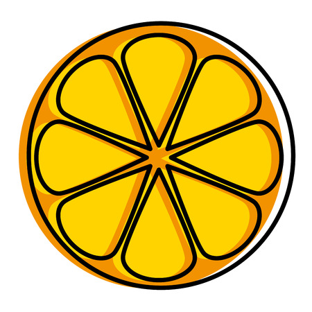 Half orange citrus fruit icon vector illustration design.
