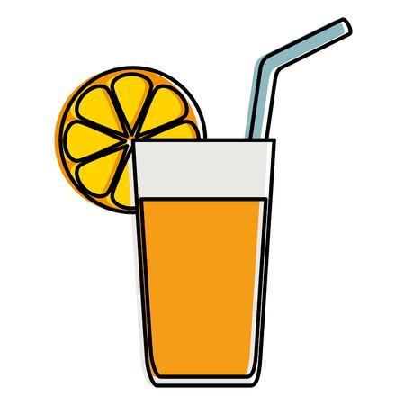Orange juice fruit icon vector illustration design. 스톡 콘텐츠 - 96388944