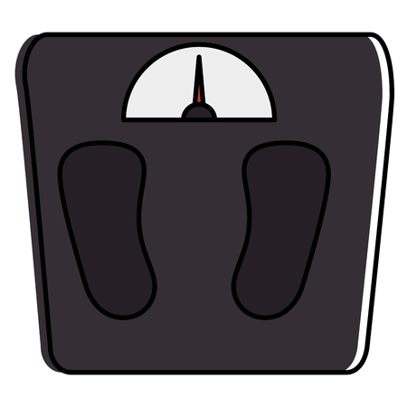 Scale weight measure icon vector illustration design.