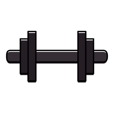Weight lifting device gym vector illustration design.